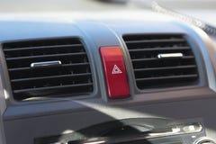 Botón de la emergencia del coche Imagenes de archivo