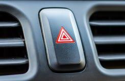 Botón de la emergencia del coche Fotografía de archivo
