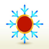 Botón de la escritura de la etiqueta de la insignia del copo de nieve. Libre Illustration