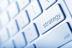 Botón de la estrategia imagenes de archivo