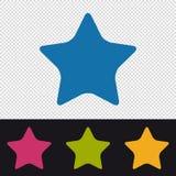 Botón de la estrella - icono preferido - ejemplo colorido del vector - aislado en fondo transparente ilustración del vector