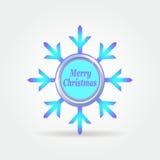 Botón 2. de la etiqueta de la insignia del copo de nieve. ilustración del vector