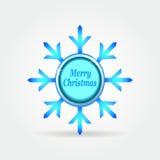 Botón 3. de la etiqueta de la insignia del copo de nieve. Libre Illustration