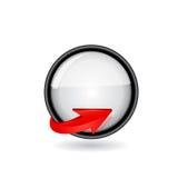 Botón de la flecha Fotografía de archivo libre de regalías