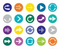 Botón de la flecha del color. fotos de archivo libres de regalías