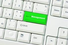 Botón de la gerencia imágenes de archivo libres de regalías