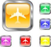 Botón de la línea aérea Imagen de archivo libre de regalías