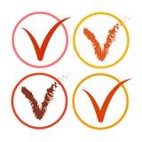 Botón de la lista de Tick Sign Icon Collection Check Imagen de archivo