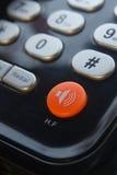 Botón de la llamada en el teléfono Imagenes de archivo