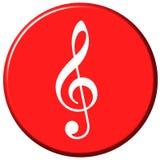 Botón de la música Imagenes de archivo