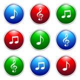 Botón de la música libre illustration
