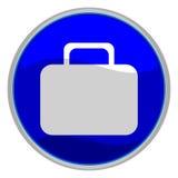 Botón de la maleta Imagen de archivo