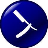 Botón de la maquinilla de afeitar recta Foto de archivo
