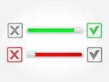 Botón de la marca de verificación Vector Foto de archivo