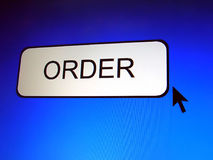 Botón de la orden Imagen de archivo libre de regalías