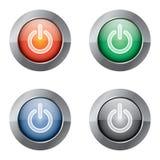 Botón de la potencia Fotos de archivo libres de regalías