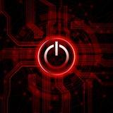Botón de la potencia Imagen de archivo
