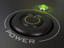 Botón de la potencia Foto de archivo libre de regalías