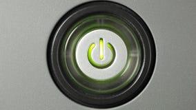 Botón de la potencia almacen de metraje de vídeo