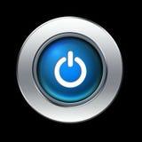 Botón de la potencia Foto de archivo