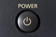 Botón de la potencia Fotos de archivo