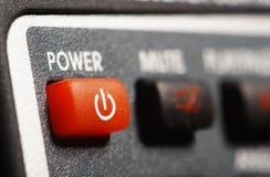Botón de la potencia Fotografía de archivo