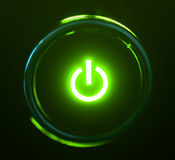 Botón de la potencia Imagen de archivo libre de regalías