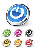Botón de la potencia del icono stock de ilustración