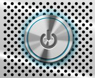 Botón de la potencia del mac Foto de archivo libre de regalías