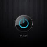 Botón de la potencia del vector Fotos de archivo libres de regalías