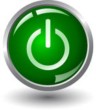 Botón de la potencia verde Fotografía de archivo libre de regalías