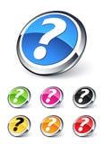 Botón de la pregunta Foto de archivo libre de regalías