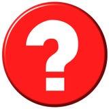 Botón de la pregunta Imágenes de archivo libres de regalías