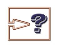 Botón de la pregunta ilustración del vector