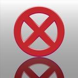 Botón de la prohibición Imagen de archivo libre de regalías