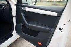 Botón de la puerta del panel de la ventanilla del coche Imagenes de archivo