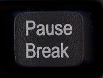 Botón de la rotura de la pausa Fotografía de archivo libre de regalías