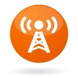 Botón de la señal de radio ilustración del vector