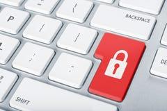 Botón de la seguridad de la cerradura del teclado Imagen de archivo libre de regalías