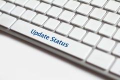Botón de la situación de la actualización Fotos de archivo libres de regalías