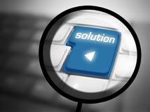 Botón de la solución en el teclado Imagen de archivo libre de regalías