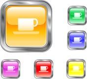Botón de la taza Imagen de archivo libre de regalías