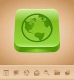 Botón de la tierra stock de ilustración