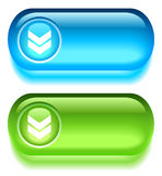 Botón de la transferencia directa stock de ilustración
