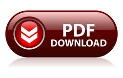 Botón de la transferencia directa del pdf Fotografía de archivo