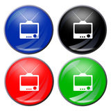 Botón de la TV fotografía de archivo libre de regalías