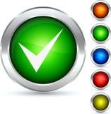 Botón de la validación. Foto de archivo