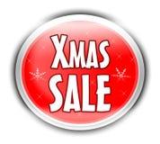 Botón de la venta de Navidad Foto de archivo