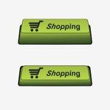 Botón de las compras Imágenes de archivo libres de regalías