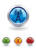Botón de las comunicaciones Foto de archivo libre de regalías